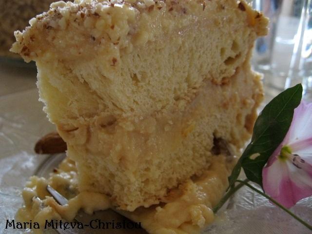 Козуначена торта с карамелен крем