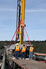 Photo: erecting bearing mod assembly