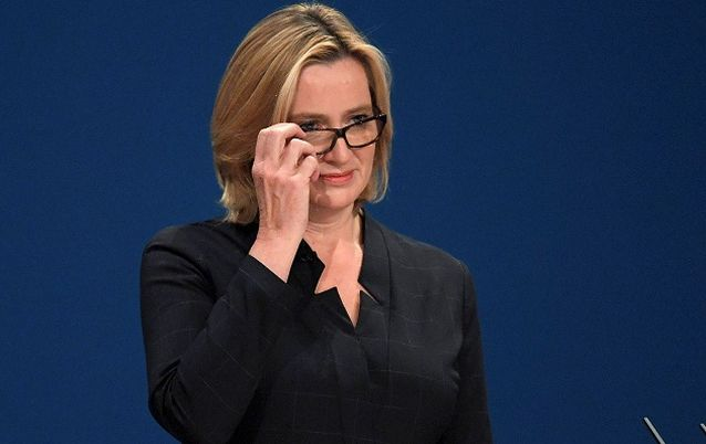 British Home Secretary Amber Rudd. Picture: REUTERS/TOBY MELVILLE