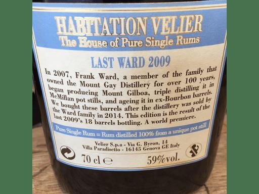 Last ward 2009 habitation Velier