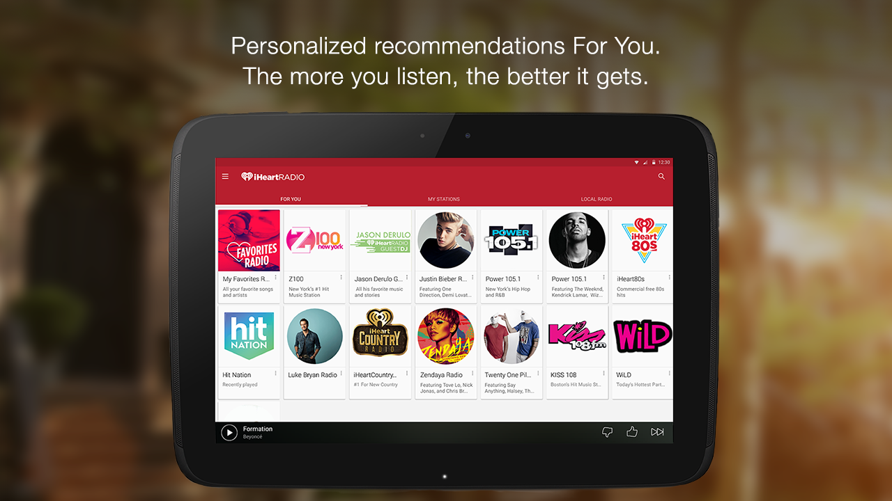 Screenshots of iHeartRadio Free Music & Radio for Android