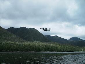 Photo: Seaplane taking off in Klemtu Pass