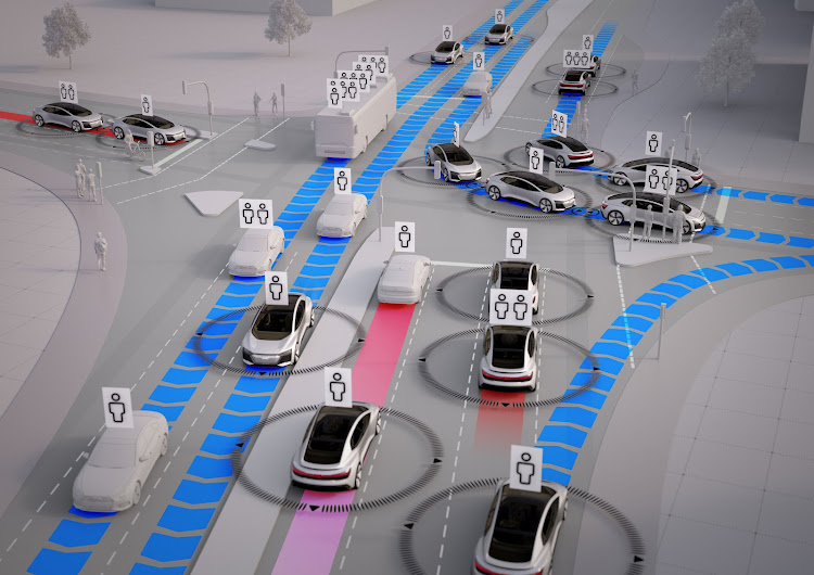 Flimsy cyber security will become even more of an issue in the future as fleets of self-driving cars use the Internet of Things to avoid crashing into one another.