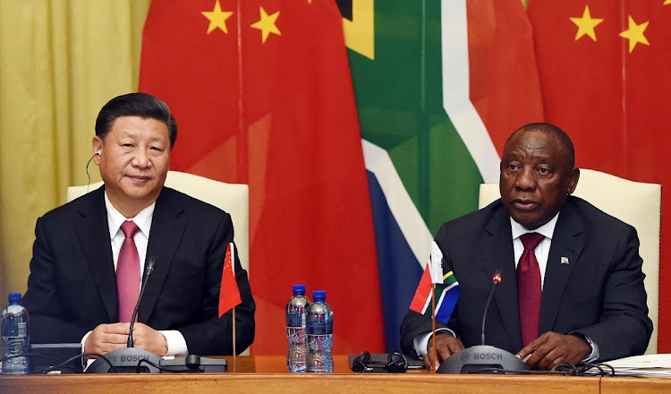 Image result for MALEMA AND CHINA FLAG