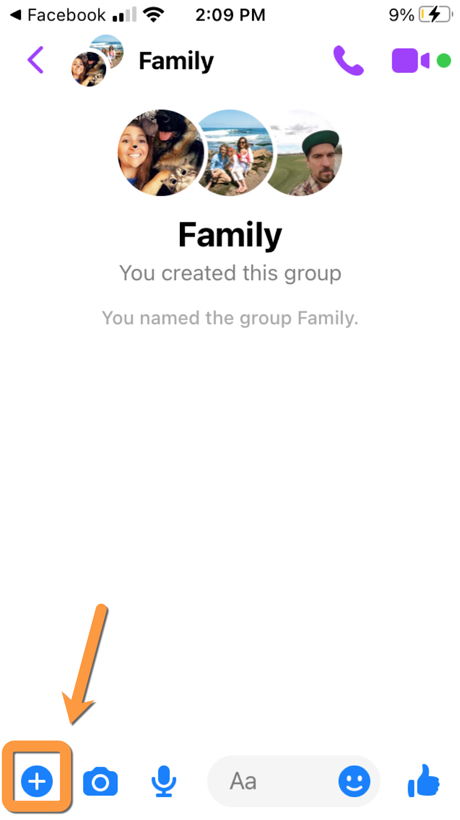 facebook group chat poll example