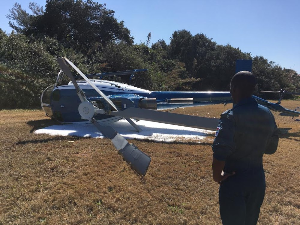 Leerling-polisie-vlieënier is ongeskonde ná helikopterongelukke in Durban - TimesLIVE