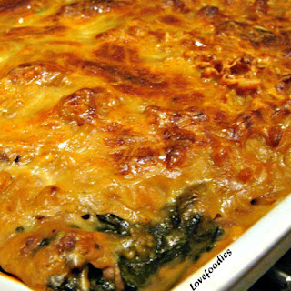 Beef and Spinach Pasta Bake.