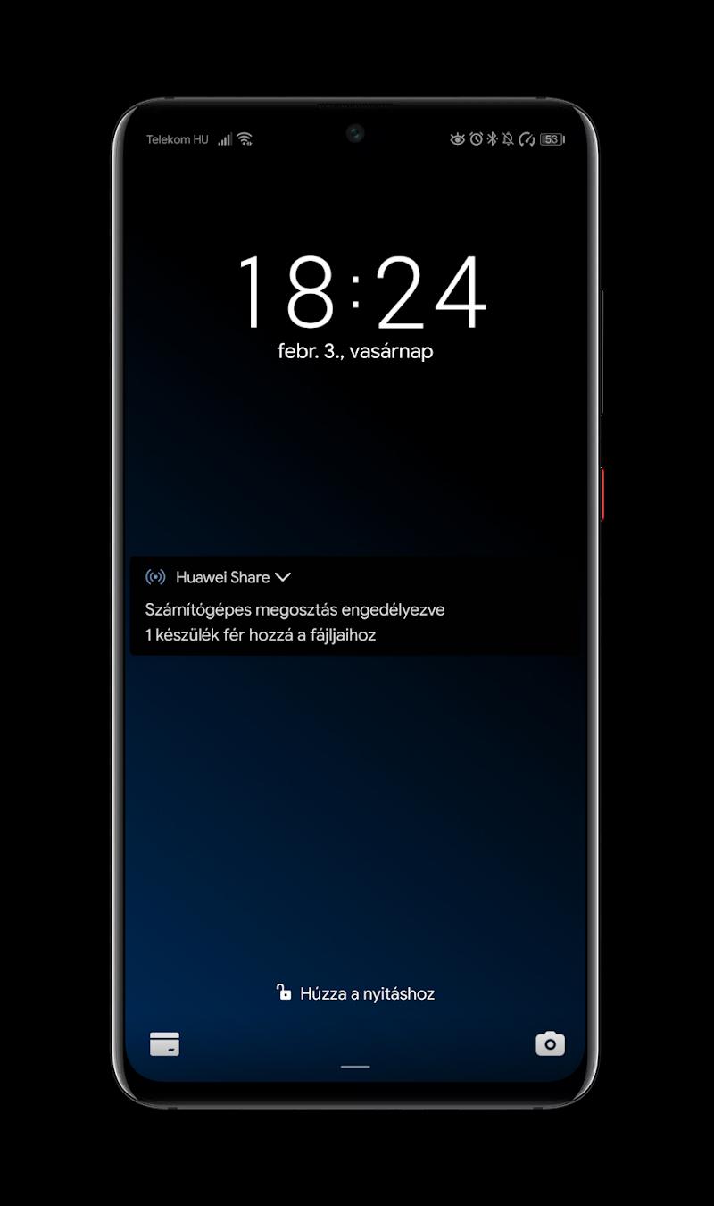Black Pie Theme for EMUI 9 / 9.1 Huawei/Honor Screenshot 0