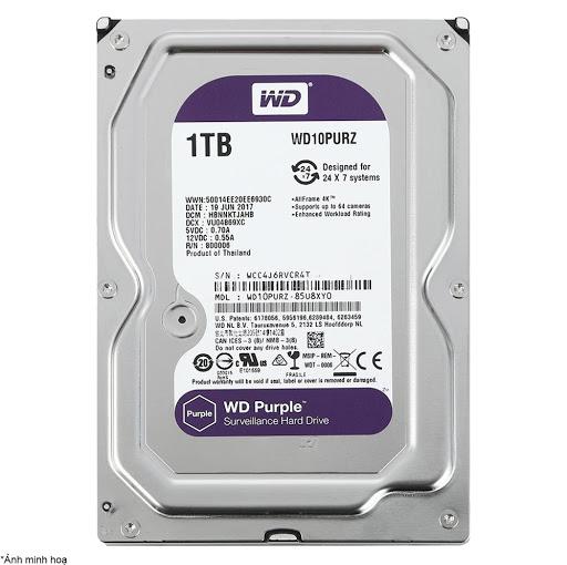 ổ cứng HDD Camera WD Purple 1TB Sata3 5400rpm (WD10PURZ)