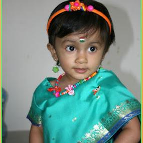 My first saree .... by Hridi Roy - Babies & Children Child Portraits