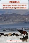 #Mongolie // Notre séjour #Kazakh dans l'#Altaï : première nuit et première neige // #AdventureTravel from Ze Wandering Frogs