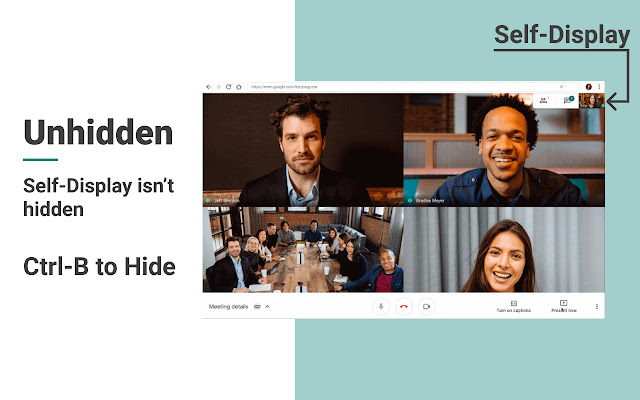 Google Meet Self-Hider