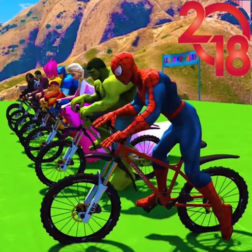 Superhero Bmx Stunt Racing Icon