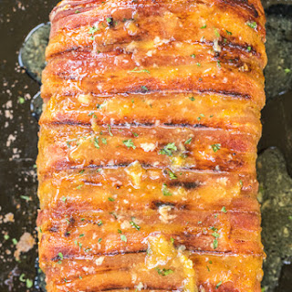 Slow Cooker Bacon Wrapped Pork Loin.