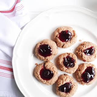 Gluten Free Almond Butter - Jam Thumbprint Cookies.
