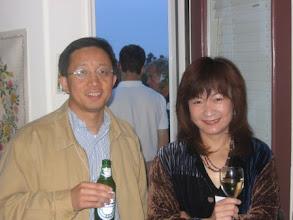 Photo: Professor Hongkai Zhao and Truisa Tan