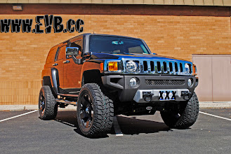 """Photo: 2009 Hummer H3 with the Rancho system and 35"""" MT ATZ tires"""