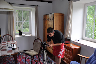 Photo: Natáčení dokumentu s pamětníkem Luďkem Eliášem (čtvrtek 28. červenec 2011, Norberčany - Nová Véska u Moravského Berouna).
