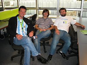Photo: Discussing the future of social networking with Ignacio Blanco and Bruno Rovagnati