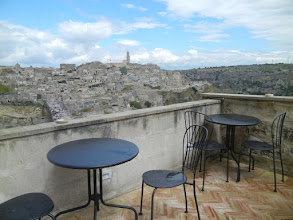 Photo: Matera from our hotel's breakfast area
