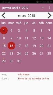 Calendario El Savador - náhled