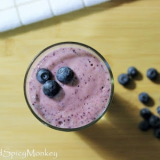 Blueberry Pineapple Smoothie.