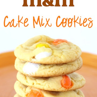 Candy Corn M&M Cake Mix Cookie Recipe!