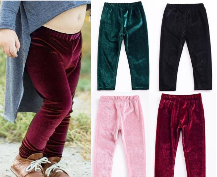 welurowe legginsy dla dzieci