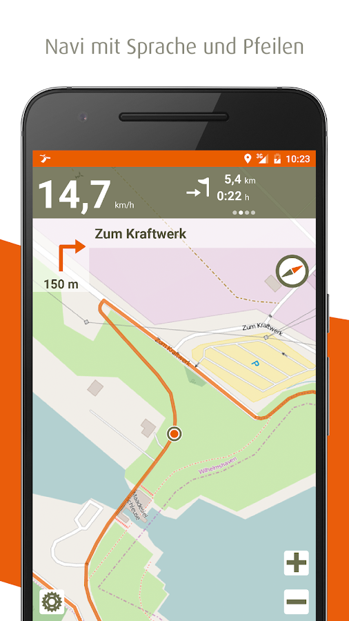 naviki das fahrrad navi android apps auf google play. Black Bedroom Furniture Sets. Home Design Ideas