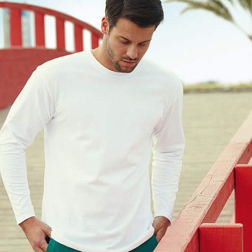 Fruit of the Loom Premium Cotton Long Sleeve T-Shirt
