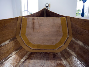 Photo: fitting the aft bulkhead
