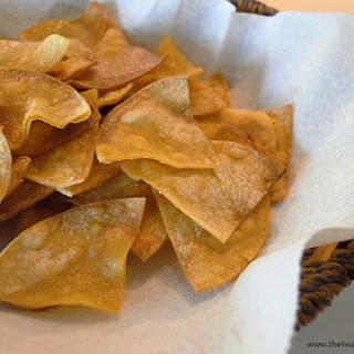 "Homemade ""Hint of Lime"" Baked Tortilla Chips"