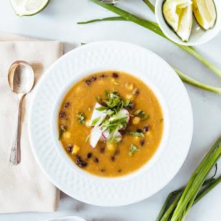 Tomatillo and Black Bean Soup.