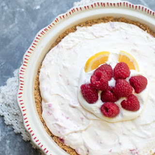 Creamy Lemon Raspberry Pie.