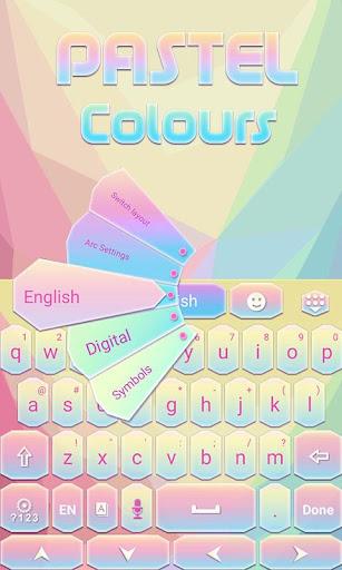 Pastel Colours Keyboard Theme