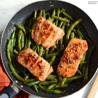 Sesame Glazed Salmon and Green Beans Recipe