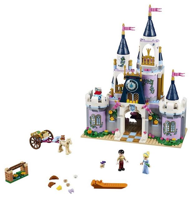 Contenido de Lego® 41154 Castillo de Ensueño de Cenicienta