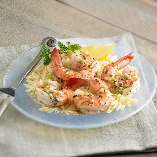 Dilled Shrimp Scampi on Rice.