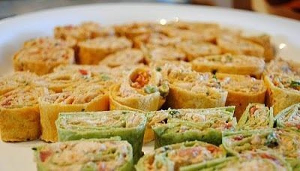Roll Ups. Use spinach tortillas to add a little green to your party tray....