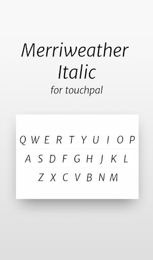 Merriweather Sans Italic Font