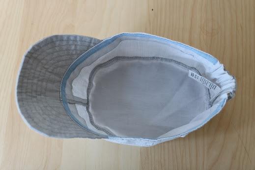 כובע פטרול מבס חוסם קרינת רדיו לבן-אפור