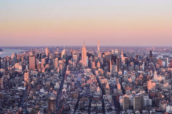 New York pink sunset di silvia_celio