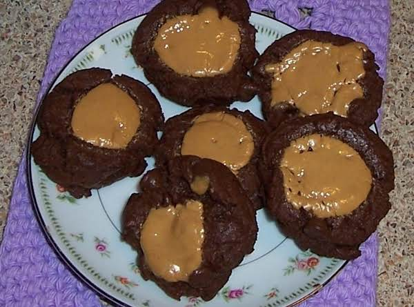 Double Chocolate Peanut Butter Thumbprint Cookies Recipe