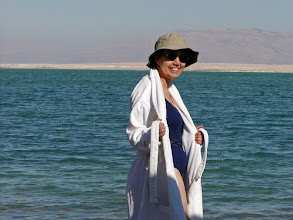 Photo: About to take a Dead Sea dip.