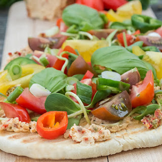 Laura Chenel's Pimento & Garlic Goat Cheese Summer Flatbread