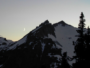 Photo: Moon Sets Behind Mountain