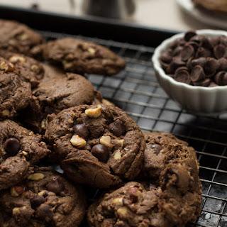 Chocolate Espresso Toasted Hazelnut Cookies