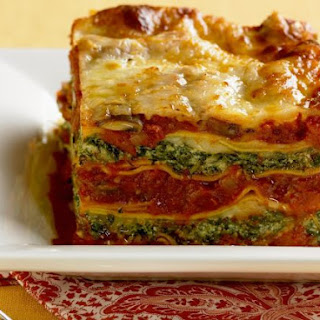 Vegetarian Layered Pasta Bake.
