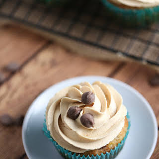 Banana Chocolate Chip Cupcakes with Peanut Butter Frosting.