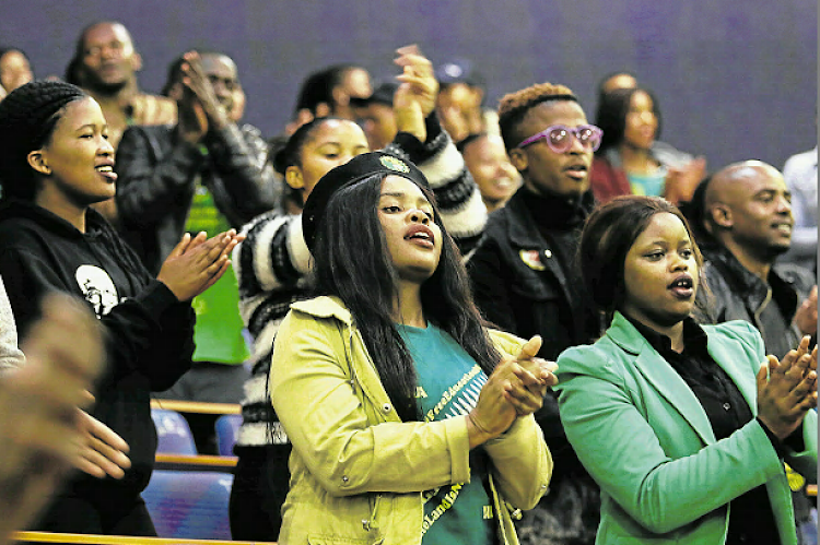 Zondeni Veronica Sobukwe is remembered during one of the memorial services held in the Eastern Cape for her. Here students from the University of Fort Hare in East London are singing PAC struggle songs.